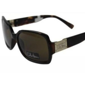 Cole Haan Rectangular Sunglasses Tortoise Brown